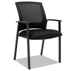 Alera ES Series Mesh Stack Chairs, Black, 2 per Carton