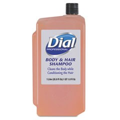 Body and Hair Care, Peach, 1 L Refill Cartridge, 8/Carton