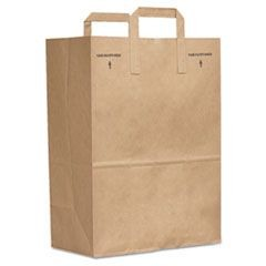 Kraft Paper Bags, Extra Heavy-Duty, 15 lb., Natural, 500/Carton