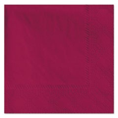 Beverage Napkins, 2-Ply, 9 1/2 x 9 1/2, Burgundy, 1000/Carton