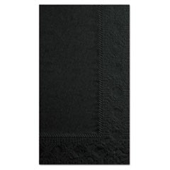 Dinner Napkins, 2-Ply, 15 x 17, Black, 1000/Carton