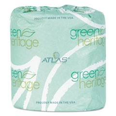 Green Heritage Professional Toilet Tissue, 4.1 x 3.1, 2-Ply, 400/Rl, 96 Rolls/CT