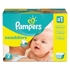 Swaddlers Diapers, Size 2: 12 - 18 lbs, 148/Carton