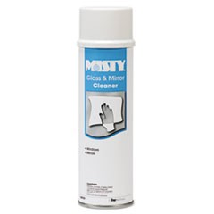 Glass and Mirror Cleaner with Ammonia, 19 oz Aerosol, 12/Carton