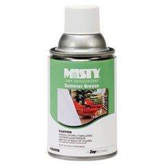 Metered Dry Deodorizer Refills, Summer Breeze, 7oz, Aerosol, 12/Carton