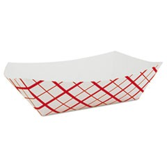 Paper Food Baskets, Red/White Checkerboard, 10 lb Capacity, 250/Carton