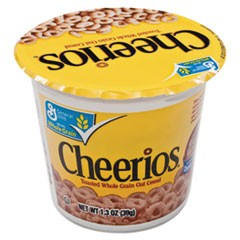 Cheerios Breakfast Cereal, Single-Serve 1.3oz Cup, 6/Pack