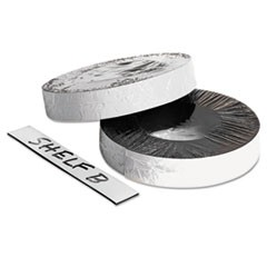 "Dry Erase Magnetic Label Tape, White,1"" x 50 ft."