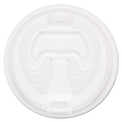 Optima Reclosable Lid, 12-24oz Foam Cups, White, 100/Bag