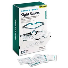 1Sight Savers Pre-Moistened Anti-Fog Tissues with Silicone, 100/Box