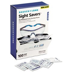 1Sight Savers Premoistened Lens Cleaning Tissues, 100 Tissues/Box