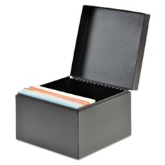Index Card File, Holds 500 4 x 6 Cards, Black