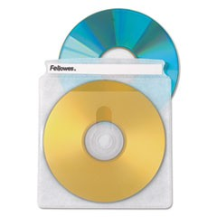 Double-Sided CD/DVD Sleeves, 50/Pk