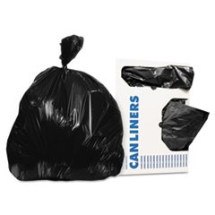 Low-Density Can Liners, 12-16 gal, .35 mil, 24 x 32, Black, 1000/Carton