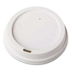 Dome-Design Hot Cup Lids, Fits 12oz Cups, White, 1000/Carton