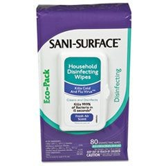 Sani-Cloth Disinfecting Surface Wipes, 10 x 8, Fresh Scent, 80/Pack