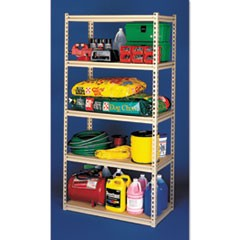 Stur-D-Stor Shelving, Five-Shelf, 48.5w x 24.5d x 84h, Sand