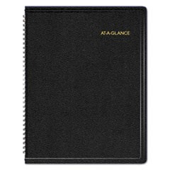 Triple View Weekly/Monthly Appointment Book, 8 1/4 x 10 7/8, Black, 2019
