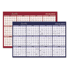 Reversible Horizontal Erasable Wall Planner, 48 x 32, 2016