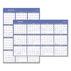 Vertical/Horizontal Erasable Wall Planner, 32 x 48, 2016