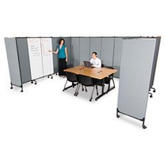 GreatDivide Wall System Fabric Add-On Panel, 64w x 3d x 72h, Gray
