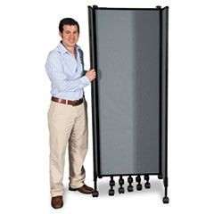 GreatDivide Wall System Fabric Starter Set, 97w x 3d x 96h, Gray