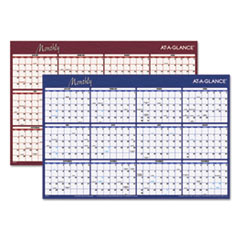 Reversible Horizontal Erasable Wall Planner, 36 x 24, 2016