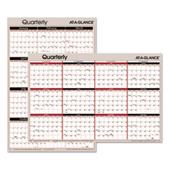 Vertical/Horizontal Erasable Quarterly Wall Planner, 24 x 36, 2016