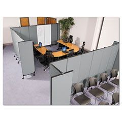 GreatDivide Wall System Fabric Add-On Panel, 64w x 3d x 96h, Gray