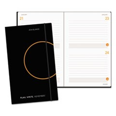 Plan. Write. Remember. Planning Notebook Two Days Per Page, 8 1/4 x 5, Black