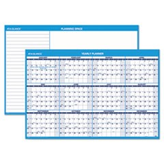 Horizontal Erasable Wall Planner, 48 x 32, Blue/White, 2017