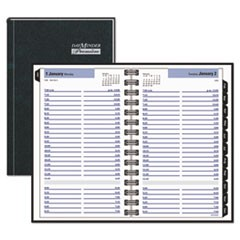 Hardcover Daily Appointment Book, 4 7/8 x 7 7/8, Black, 2019