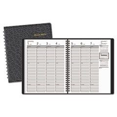 Weekly Appointment Book Ruled, Hourly Appts, 6 7/8 x 8 3/4, Black, 2016-2017