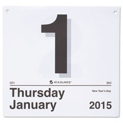 """Today Is"" Daily Wall Calendar Refill, 8 1/2 x 8, White, 2016"