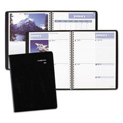 Scenic Weekly/Monthly Planner, 8 1/4 x 10 7/8, Blue, 2016