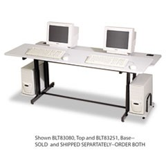 Split-Level Computer Training Table Base, 72w x 36d x 33h, Black (Box Two)