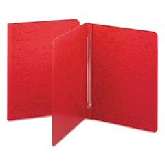 Side Opening PressGuard Report Cover, Prong Fastener, Letter, Bright Red