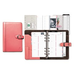 Pink Ribbon Loose-Leaf Organizer Starter Set, 3 3/4 x 6 3/4, Pink/White