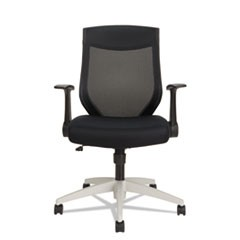Alera EB-K Series Synchro Mid-Back Flip-Arm Mesh Chair, Black/Cool Gray Frame