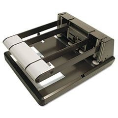 160-Sheet Capacity Xtreme Duty Adjustable Hole Punch, Antimicrobial, BK/Silver