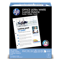 Office Ultra-White Paper, 92 Bright, 3-Hole, 20lb, 8-1/2 x 11, 500/Ream
