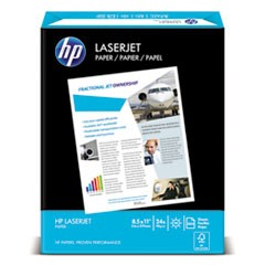 LaserJet Paper, Ultra White, 97 Bright, 24lb, Letter, 2500 Sheets/Carton