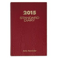 Standard Diary  Recycled Daily Reminder, Red, 5 3/4 x 8 1/4, 2016