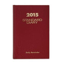 Standard Diary Recycled Daily Reminder, Red, 5 x 7 1/2, 2016