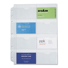 1Business Card Holders for Looseleaf Planners, 8 1/2 x 11, 5/Pack