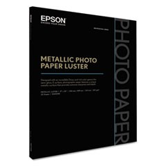 Professional Media Metallic Photo Paper Luster, White, 17 x 22, 25 Sheets/Pack