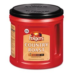 Coffee, Country Roast, Ground, 34 1/2 oz Canister, 6/Carton