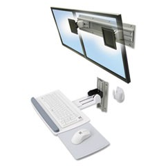 Neo-Flex Keyboard Wall Mount, 17.5w x 5 to 19.25d x 10h, White