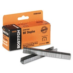 "1B8 PowerCrown Premium Staples, 0.38"" Leg, 0.5"" Crown, Steel, 5,000/Box"