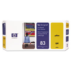 HP 83, (C4963A) UV Yellow Printhead and Cleaner